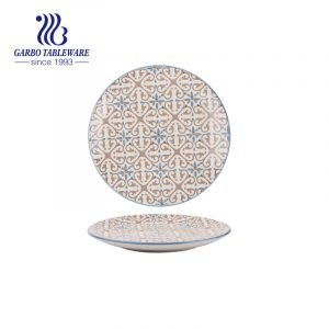 Оптовый дизайн OEM ручная роспись красивая декоративная 7.5-дюймовая керамическая тарелка для десертов