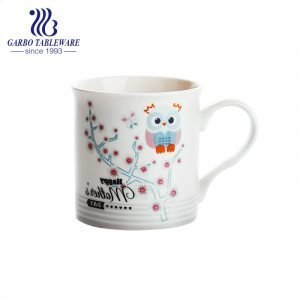 Cute and beautiful ceramic water gift mug for Mother's day  with print design porcelain coffee drinking mugs