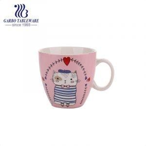 Креативная керамическая кофейная кружка с фарфоровым принтом, цветные кружки для питья, набор милых чашек