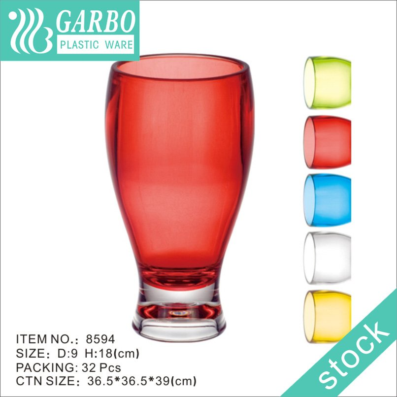 clear colored transparent beer cup