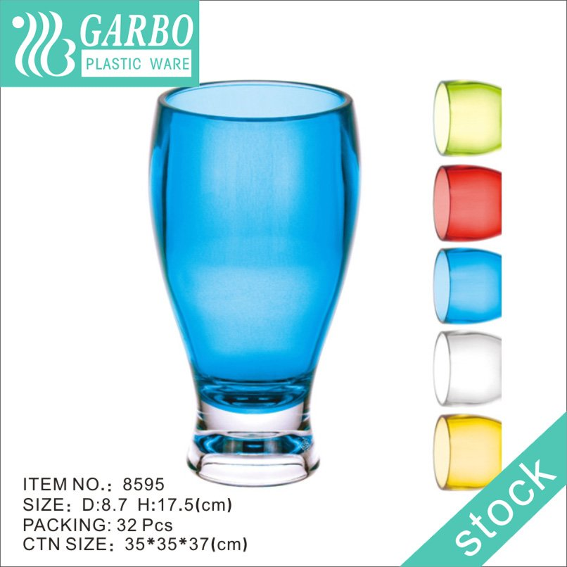 blue 20oz polycarbonate beer glass cup