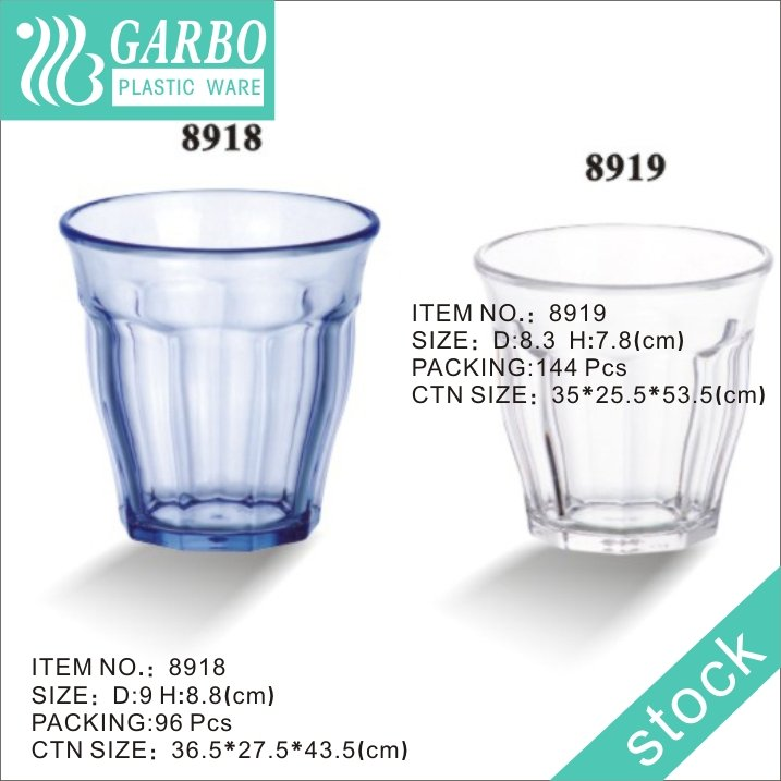 polycarbonate color water glass