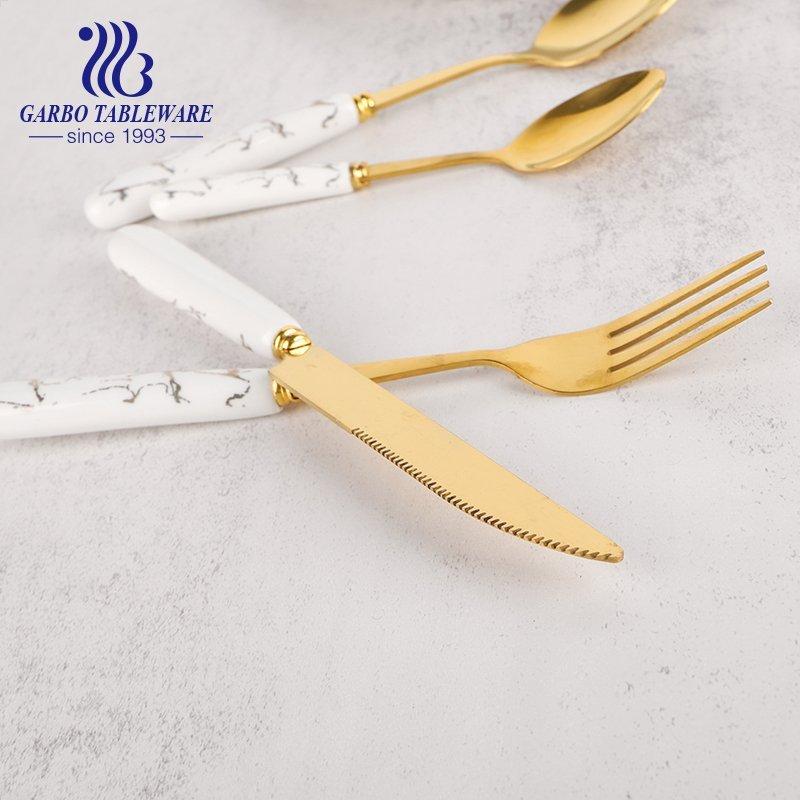 Ceramic Handle Dinner Knife