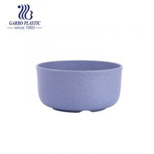 Factory round purple colored eco-friendly wheat straw plastic rice bowl for daily use