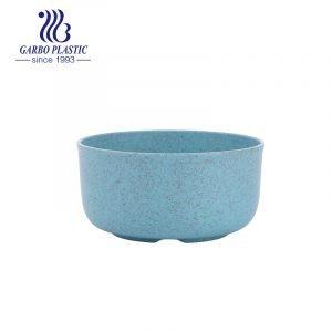 Tiffany blue wheat straw eco-friendly plastic unbreakable fruit salad bowl for restaurant