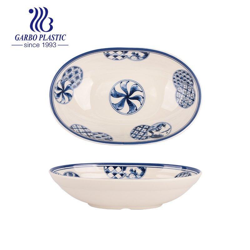 oval soup plate