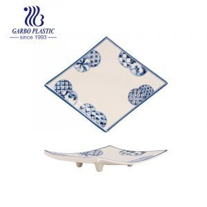 Footed Plastic Serving Dish Unbreakable Dishwasher Safe Widely Used in Daily Life