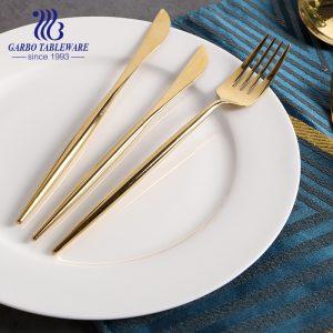8.5-дюймовый роскошный блестящий золотой обеденный нож для подарка