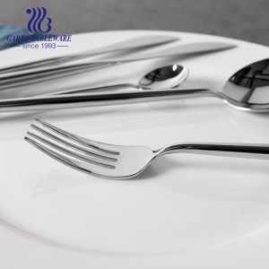Luxury Commercial Fashion Silver Fork Stainless Steel Portuguese Style for Restaurant Cutlery Gift Set