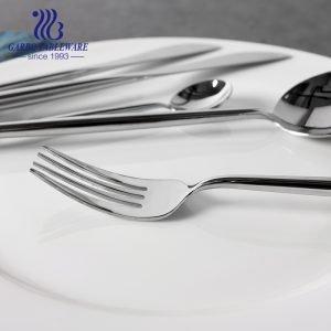 أزياء تجارية فاخرة شوكة فضية من الفولاذ المقاوم للصدأ طراز برتغالي لمجموعة هدايا أدوات مائدة للمطعم