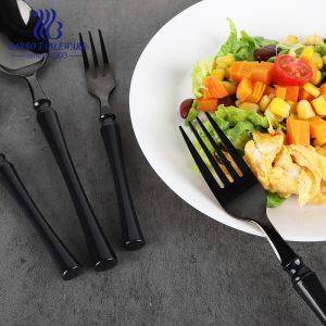 تصميم جديد من الفولاذ المقاوم للصدأ للديكور باللون الأسود مع مقبض بلاستيكي