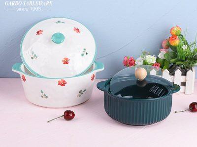 Garbo new arrival microwave safe porcelain casserole sets