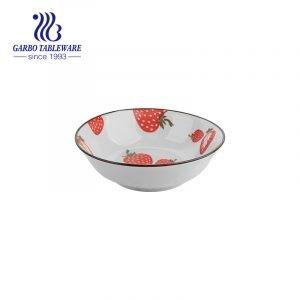 Керамическая миска клубники 640 мл с застекленной поделкой для дома