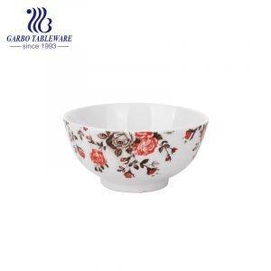 Фарфоровая чаша 730 мл с подглазурной цветочной наклейкой для оптовой продажи