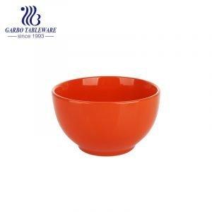 700 مل وعاء من الخزف الحجري الملون مع اللون البرتقالي للمنزل