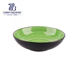 أواني حجرية مزججة ملونة مرسومة باليد من وعاء واسع الشموع 920 مل للبيع