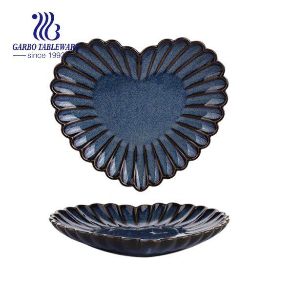 8inch heart shaped porcelain dish