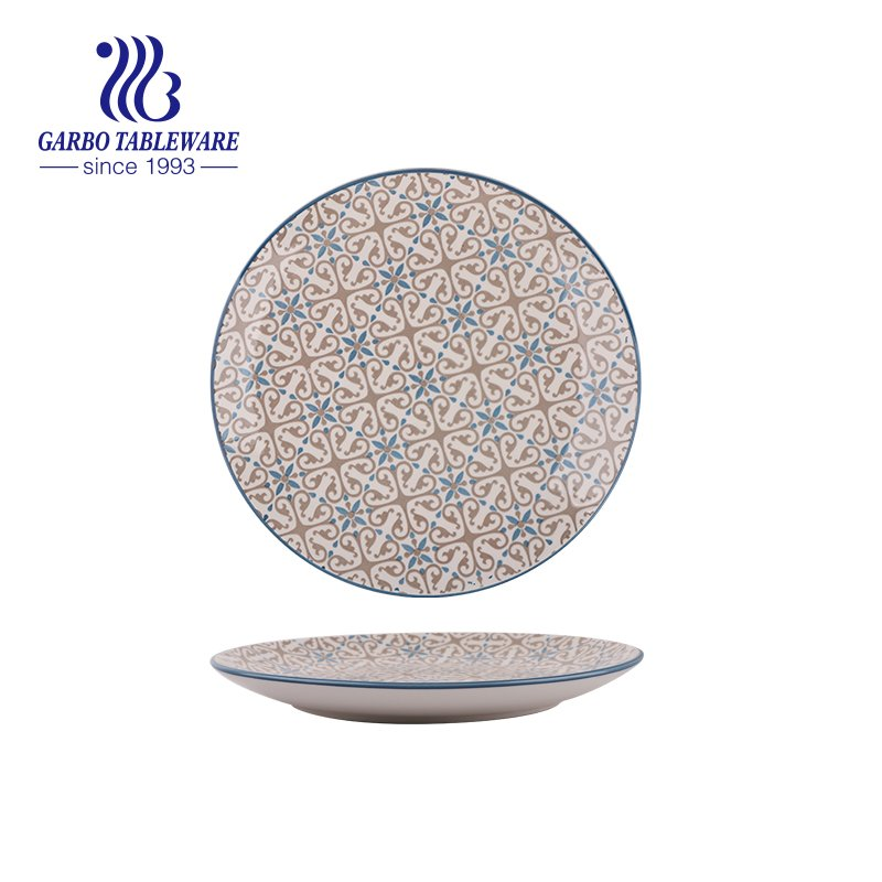 10.5inch round ceramic charger plate