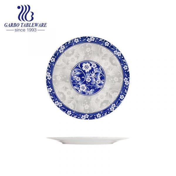 9inch ceramic flat dinner plate