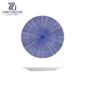 Factory custom universal design plain flat plate 10.5inch ceramic charger plate