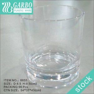 كوب شرب ويسكي بلاستيكي شفاف 13 أونصة للحانة